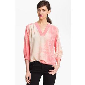 NWT Diane von Furstenberg Printed Silk Top Blouse